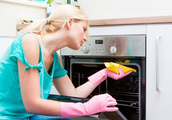 чистка духовки изнутри