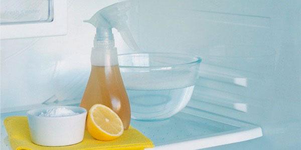 как мыть холодильник уксусом