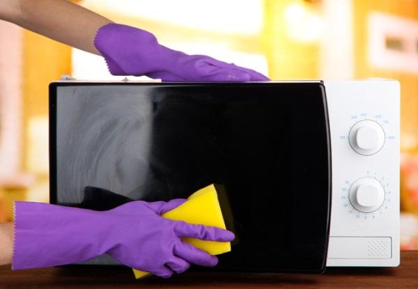 чистка микроволновки снаружи