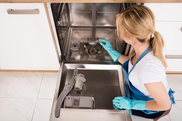 подготовка посудомойки к чистке