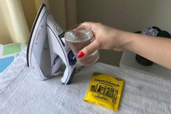 раствор лимонной кислоты для чистки утюга