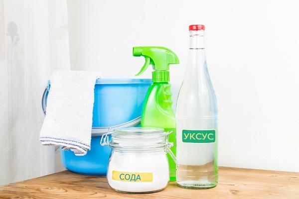 сода и уксус для чистки духовки