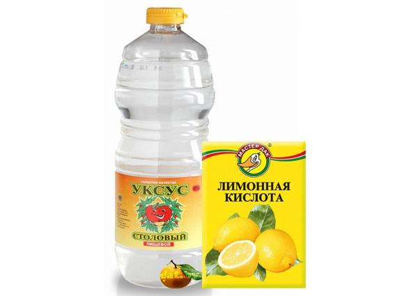 уксус и лимонная кислота для чистки парогенератора