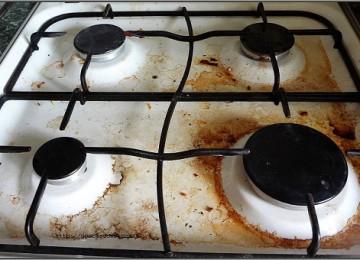 8 рецептов, как отмыть жир на газовой плите в домашних условиях