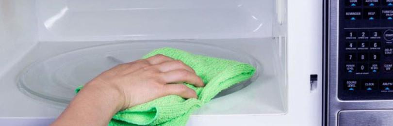 3 надежных рецепта, как помыть микроволновку внутри быстро в домашних условиях уксусом